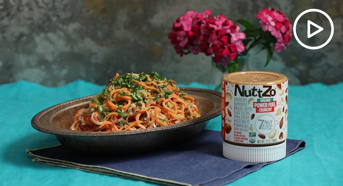 Nutty Sesame Carrot Noodles Recipe