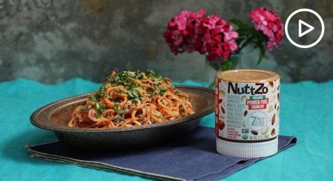 Nutty Sesame Carrot Noodles Recipe