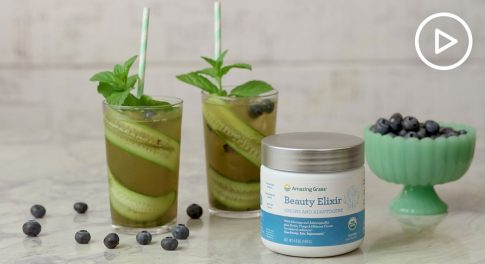 Blueberry Mint Beauty Spritzer Recipe