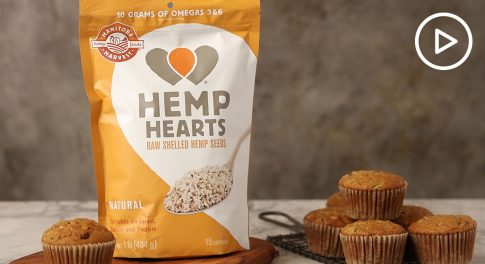 Hemp Heart Zucchini Muffins Recipe