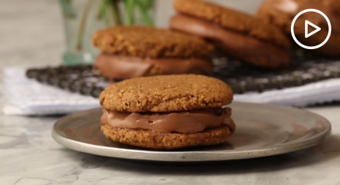 Pumpkin Whoopie Pies With Coconut Hazelnut Filling Recipe