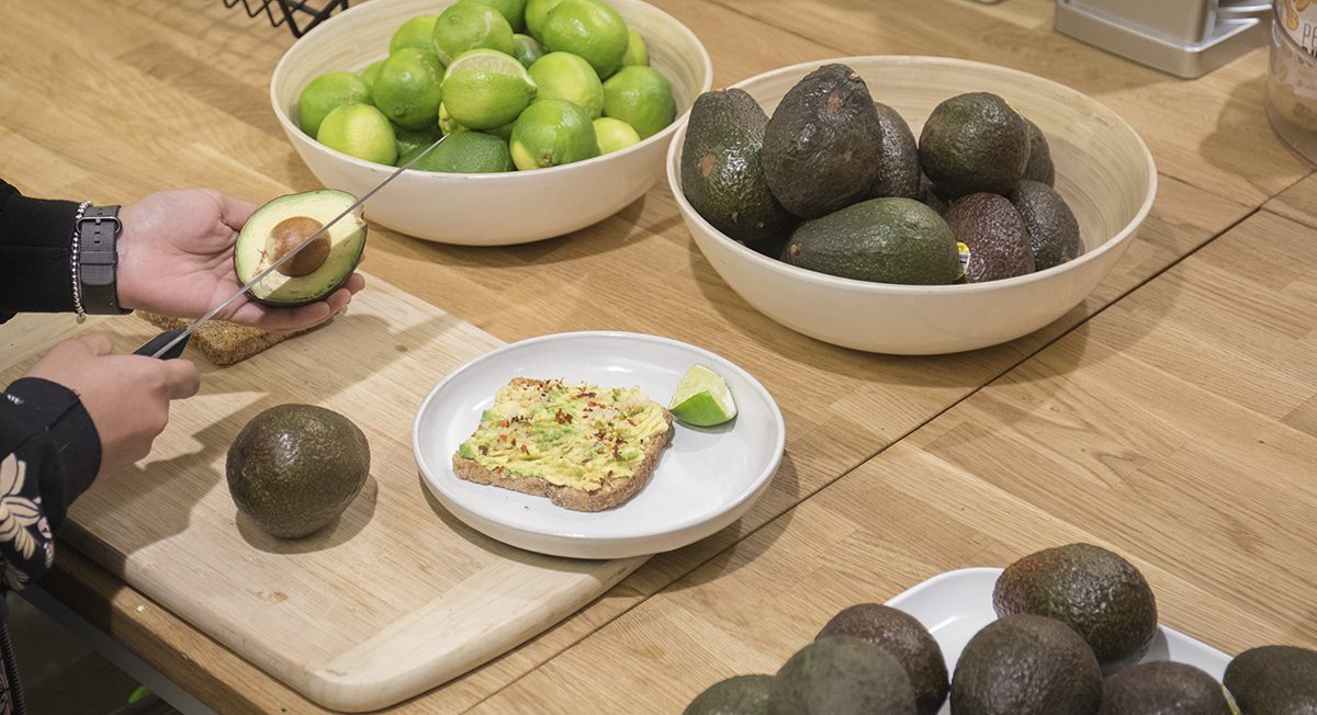 Avocado Snack in the Kitchen