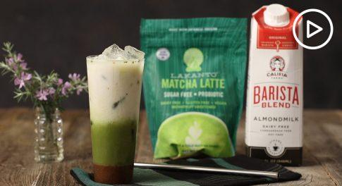 Vegan Salted Caramel Matcha Latte Recipe