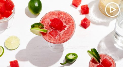 Watermelon and Lime Frozen Margarita Recipe