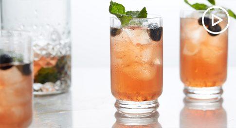 Blueberry Mint Mocktail Recipe