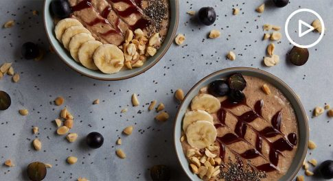PB & J Maca Smoothie Bowl Recipe