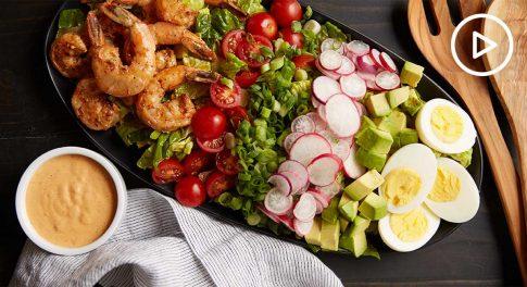 Grilled Shrimp Louie Salad Recipe
