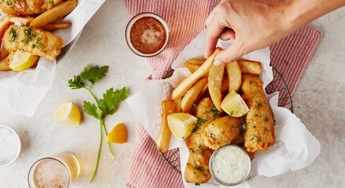 Beer-Battered Cod With Tartar Sauce Recipe