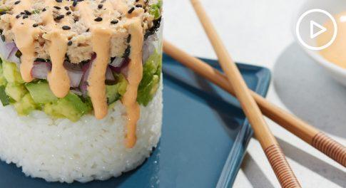 Salmon Sushi Stacks Recipe