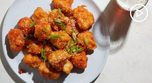 Apricot-Sesame Cauliflower Wings Recipe