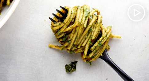 Chlorella Avocado Pesto Noodles Recipe