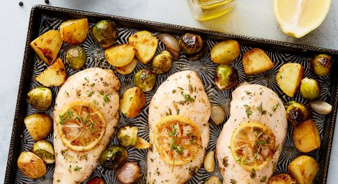 Sheet Pan Chicken Breast With Lemon Recipe
