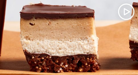Vegan Peanut Butter and Chocolate Cheesecake Bars Recipe