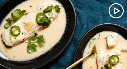 Ginger Cod in Lemongrass Coconut Broth Recipe