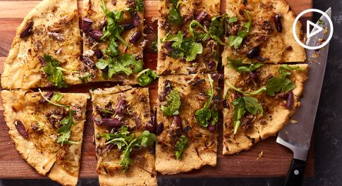 Anchovy and Onion Flatbread Recipe