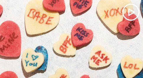 Keto Conversation Heart Candies Recipe