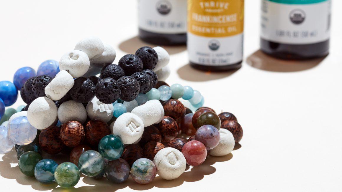 DIY Essential Oil Beaded Bracelet