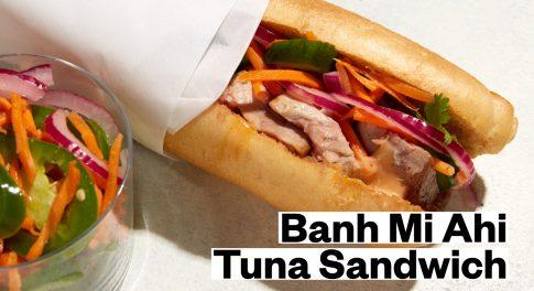 Gluten-Free Bánh Mì—With Seared Ahi Tuna