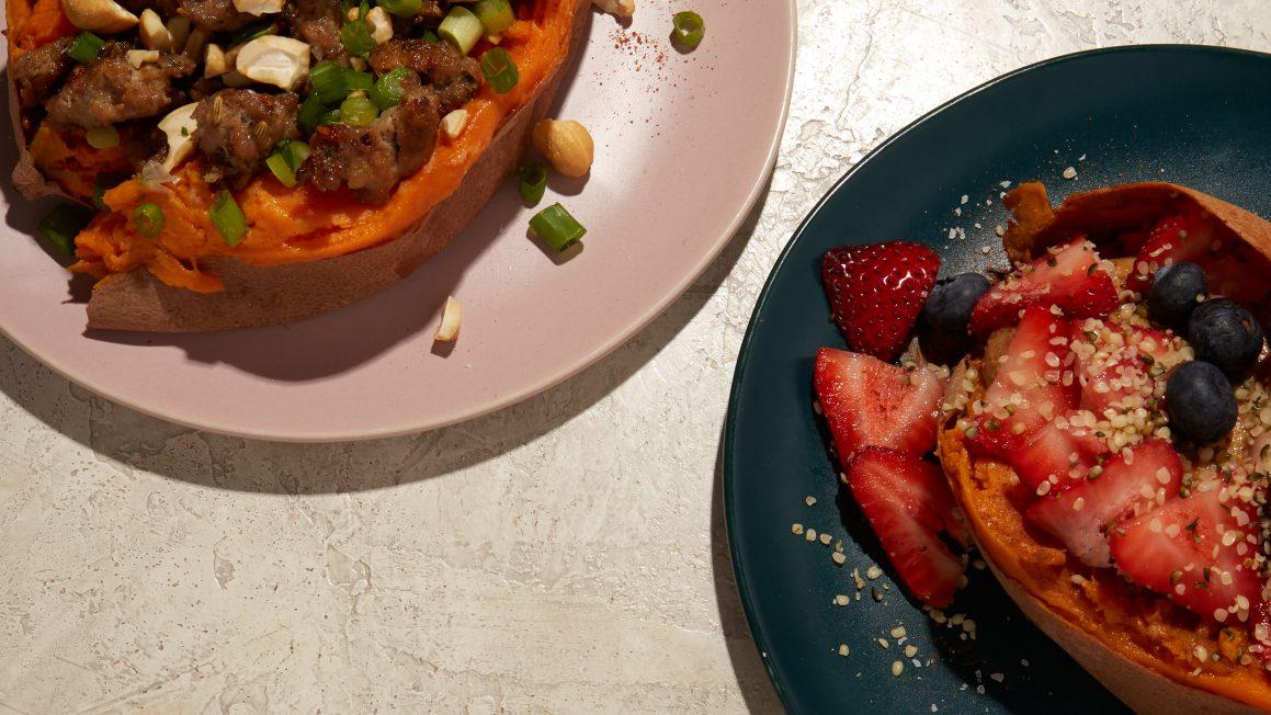 breakfast baked sweet potatoes