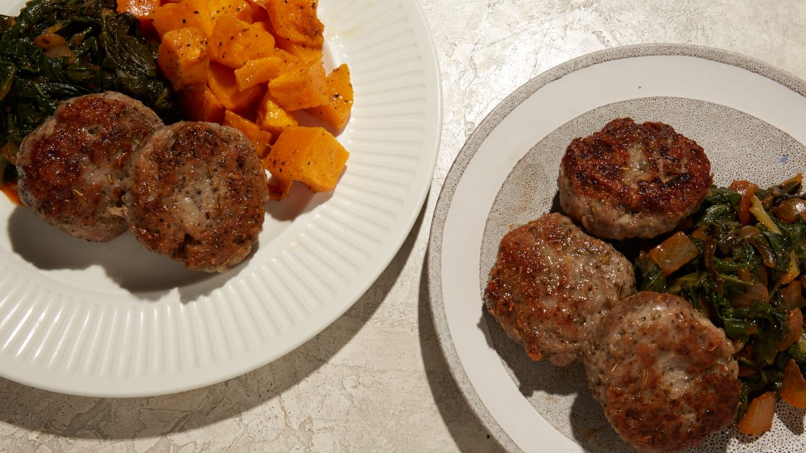 DIY Sausage With Braised Greens