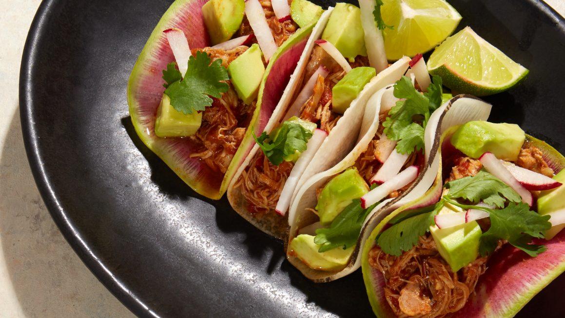 Whole30 Chicken Tinga Tacos