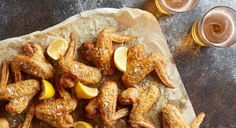 Lemon Pepper Chicken Wings 2 Ways: Air-Fried and Baked