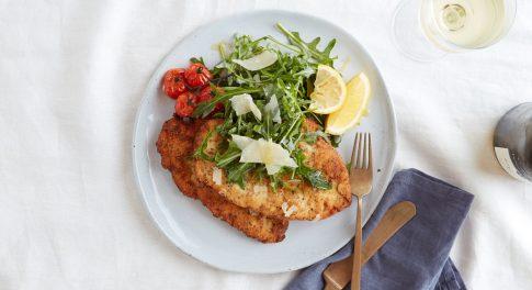 Chicken Milanese With Arugula Salad Recipe