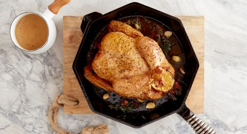 How to Roast Chicken in a Cast-Iron Skillet