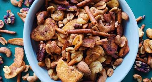 Spicy & Savory Snack Mix for Your Next Happy Hour