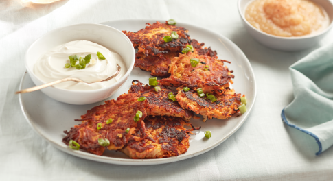 Make Sweet Potato Latkes (Potato Pancakes) the Paleo Way for Hanukkah