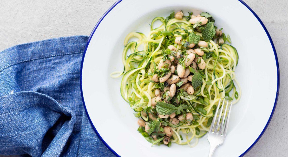 white bean zucchini salad